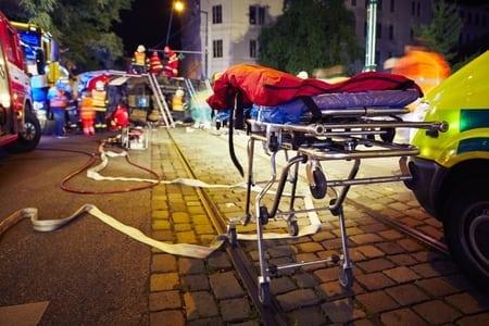 stretcher in street